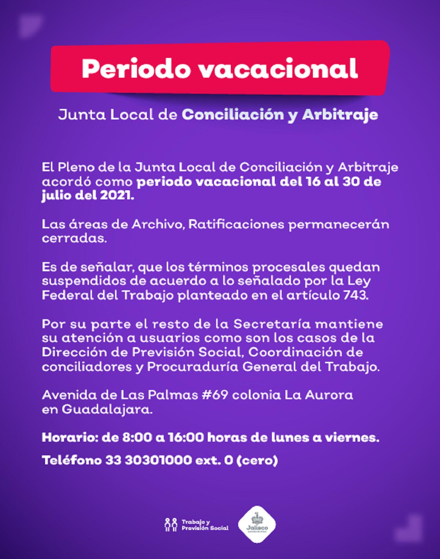 Periodo Vacacional 2021 JLCA