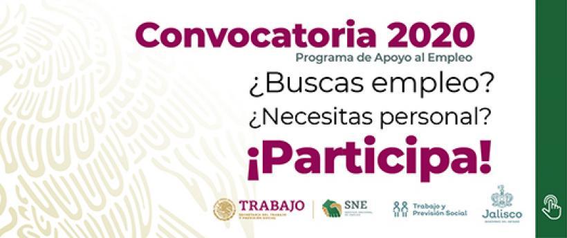 Convocatoria del Programa de Apoyo al Empleo 2020
