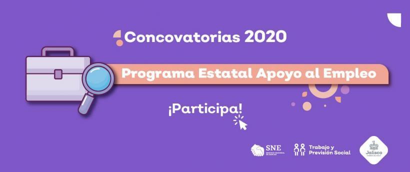 PROGRAMA ESTATAL APOYO AL EMPLEO 2020